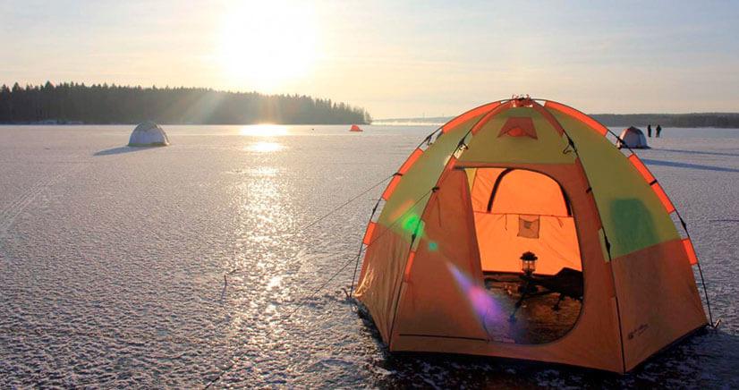 Теплообменник в палатку для зимней рыбалки
