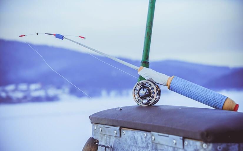 Оснастка зимней удочки для ловли на течении