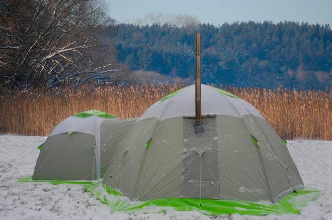 Печка в палатке